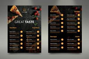 A4 Fast Food Menu