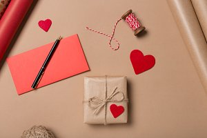 Gift wrapping background