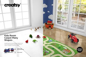 Kids Room Carpet Mockup Set