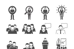 Business management team icons