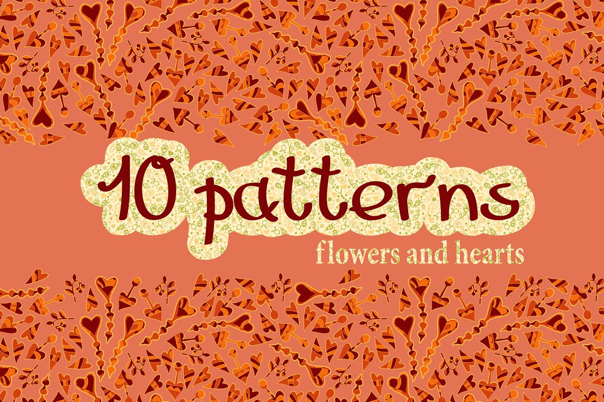 Set of 10 seamless patterns in Patterns - product preview 8