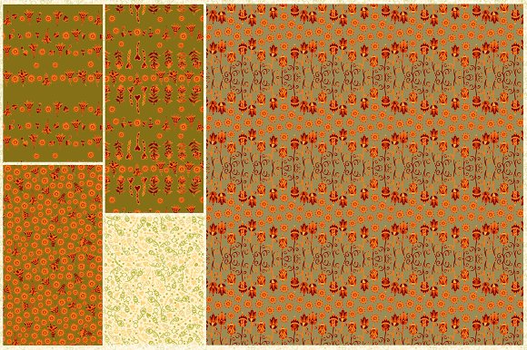 Set of 10 seamless patterns in Patterns - product preview 2