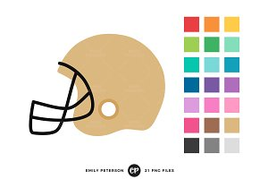 Football Helmets Clipart