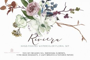 Riviera - Hand-painted Watercolor