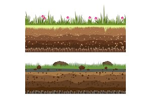 Underground layers seamless background