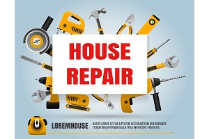 House repair tools poster