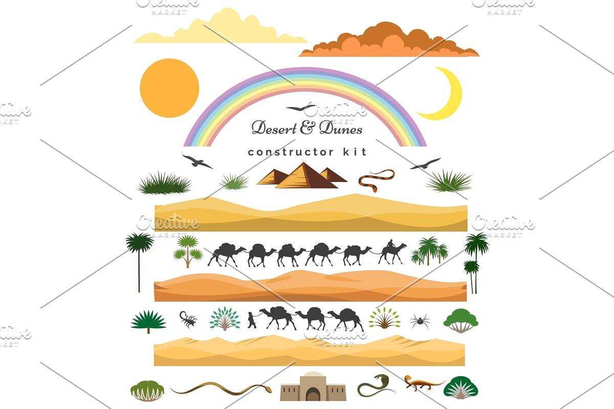 Desert game scenery constructor set