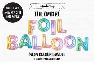 The Ombre Foil Balloon Bundle