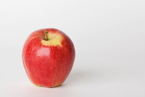 Healthy Red Apple on White