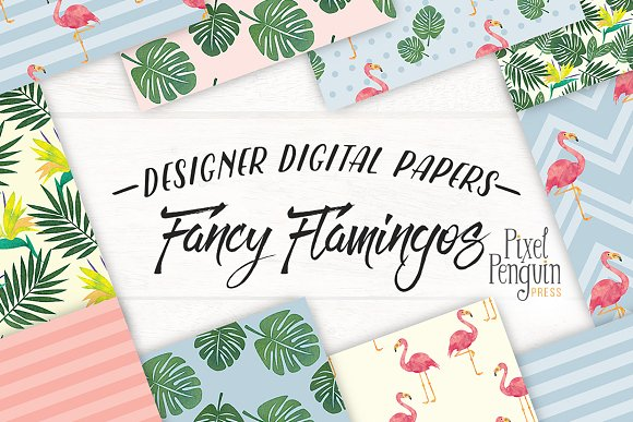 Fancy Flamingos Patterns