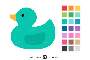 Rubber Ducks Clipart