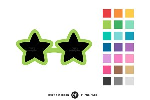 Star Sunglasses Clipart