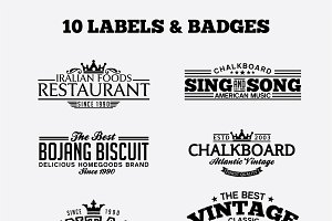 10 Vintage Badges and Logos Vol4