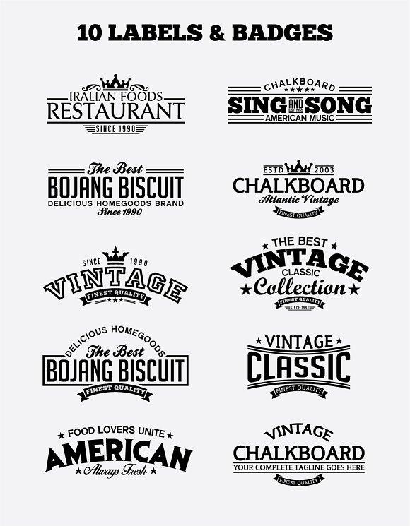 10 Vintage Badges And Logos Vol4