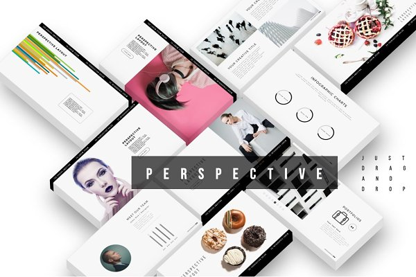 Presentation Templates: Brenners Template - PERSPECTIVE PowerPoint Template