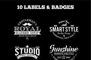 10 Vintage Badges and Logos Vol6