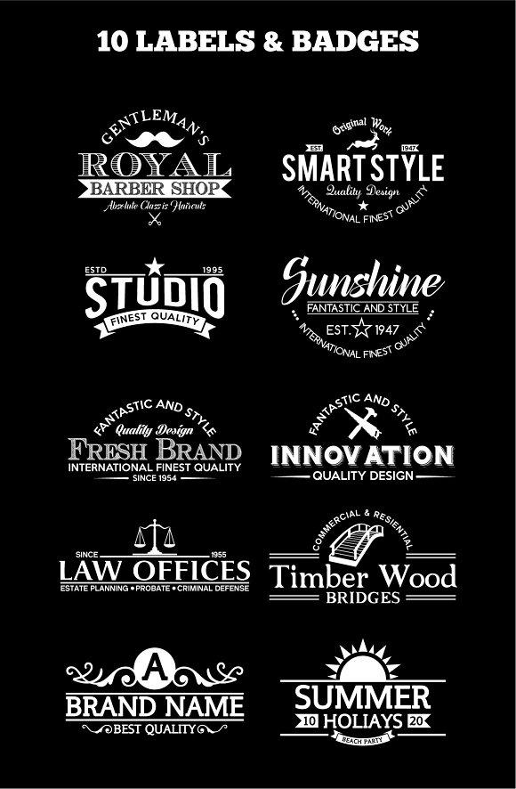 10 Vintage Badges And Logos Vol6