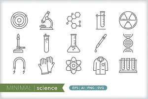 Minimal science icons