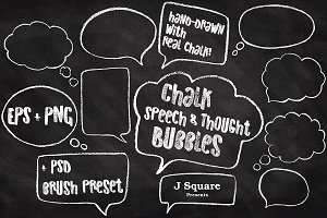 Chalk Speech & Thought Bubbles