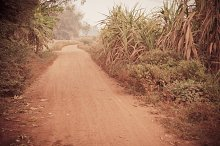Vintage road in country Thailand
