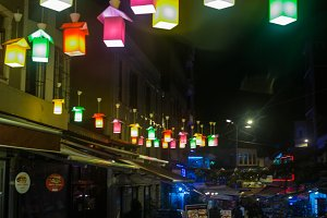 Colorful Lantern Festival in the Istanbul, Turkey