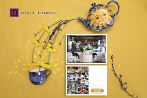High Tea Postcard Template