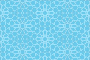 Set of oriental seamless patterns