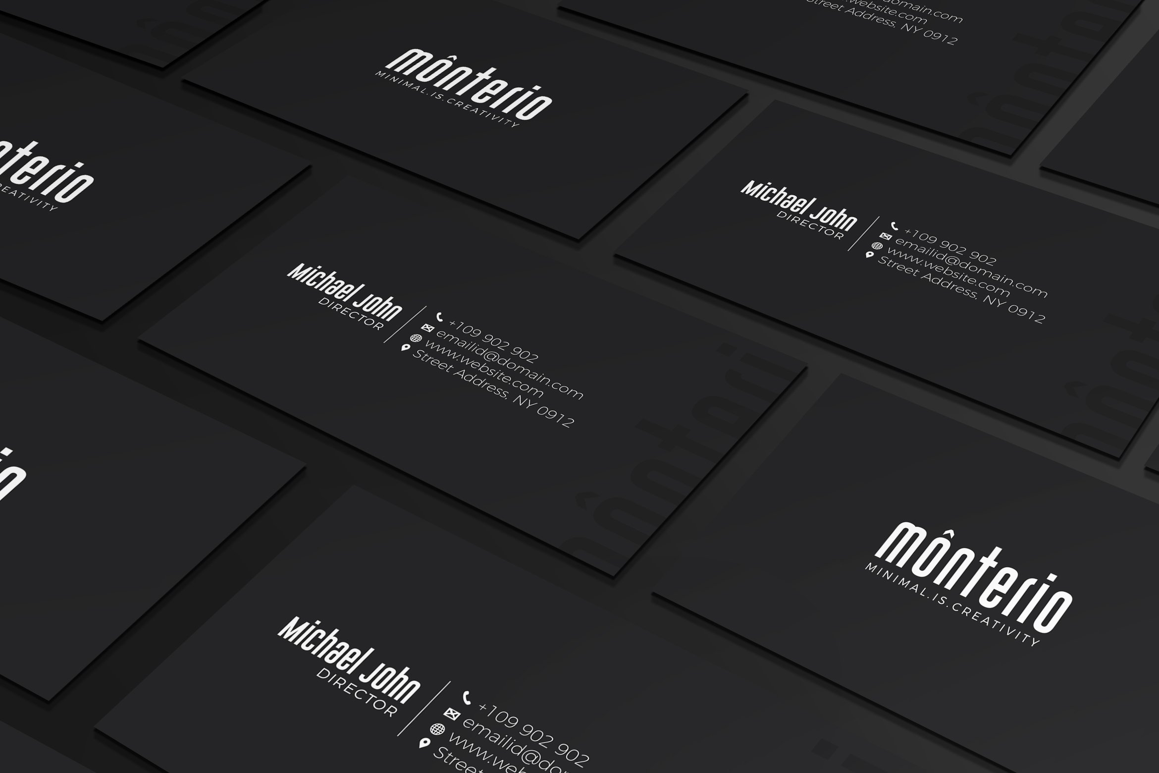 Minimal Black Business Card Business Card Templates