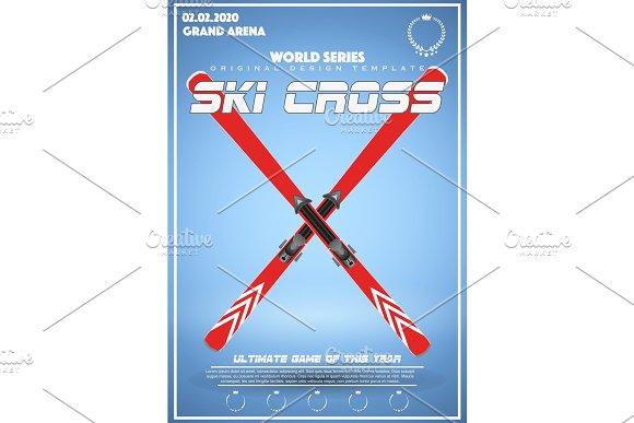 Poster Template Of Winter Games Of SKI Cross