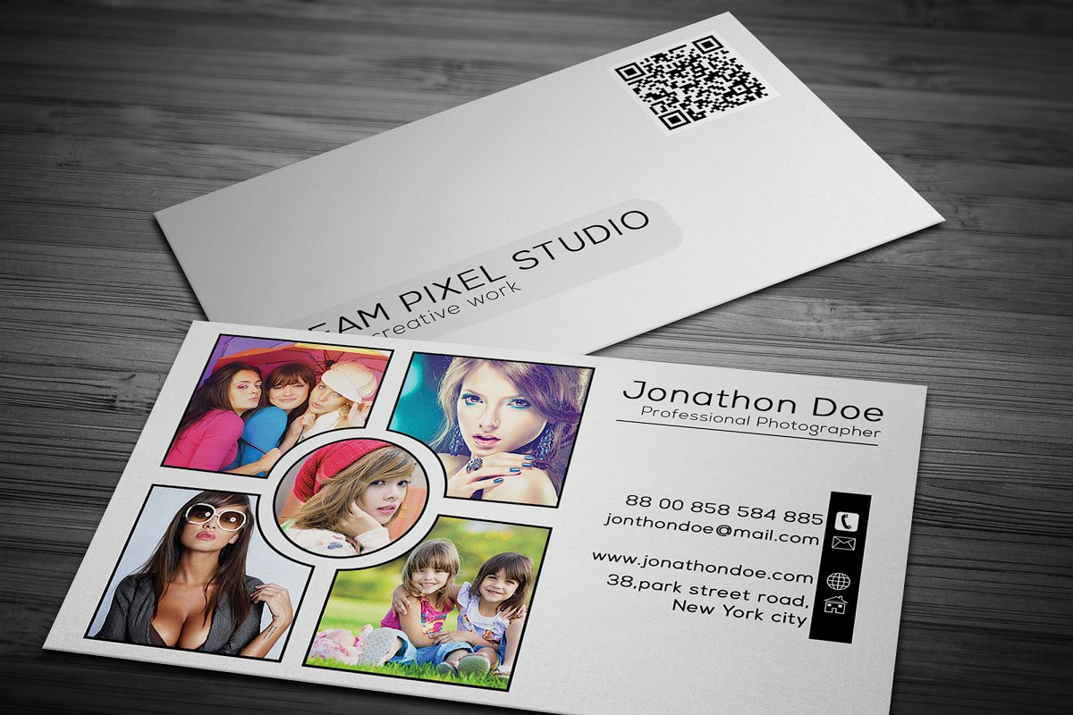 Photography Business Card in Business Card Templates - product preview 2