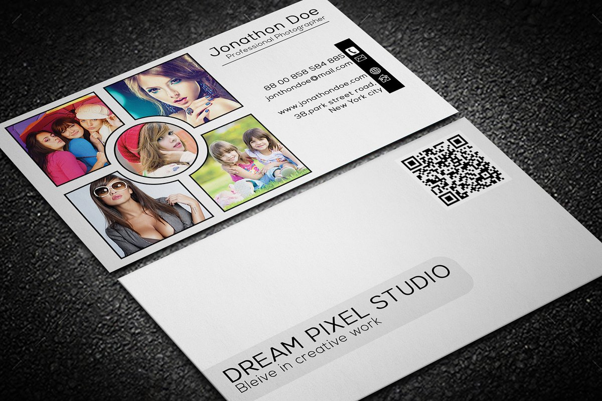 Photography Business Card in Business Card Templates - product preview 3