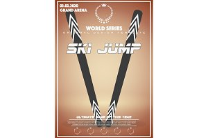 Poster Template of Winter Games of Big Jump