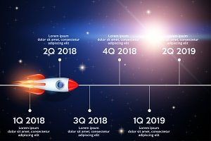 Business concept of timeline roadmap.