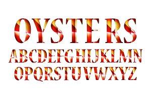 Vintage decorative font
