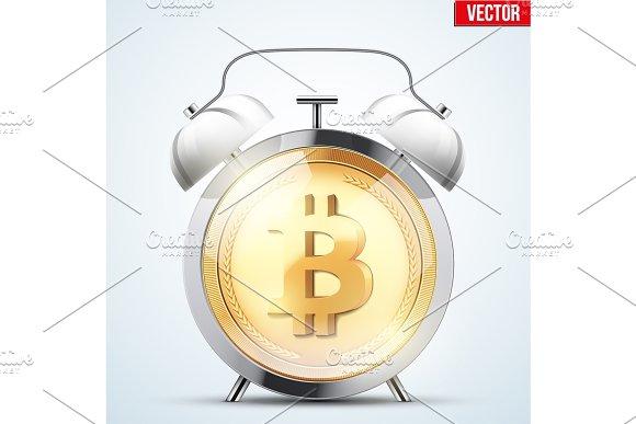 Bitcoin exchange trading alarm clock in Illustrations