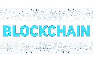 Digital background of Blockchain
