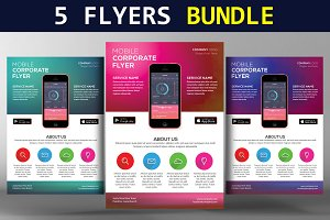 5 Corporate Flyers Bundle