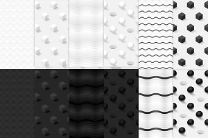 12 minimalist seamless patterns