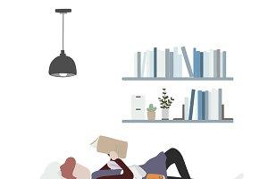 Illustration of human hobbies
