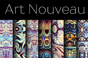70 patterns in Art Nouveau style