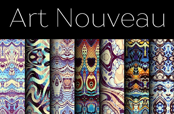 70 Patterns In Art Nouveau Style