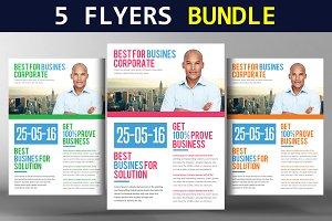 5 Capital Firm Business Flyer Bundle