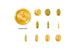 Gold Rotate Litecoin Frames