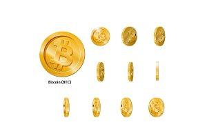 Gold Rotate Bitcoin Frames