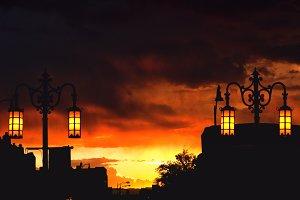 Orange Santa Fe Sunset