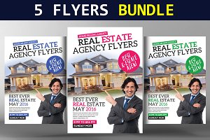 5 Real Estate Flyers Bundle