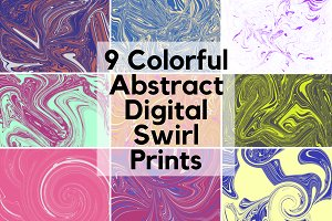 Colorful Swirl Scrap-Booking Paper