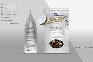 WHITE PAPER BAG MOCKUP LEFT_FRONT
