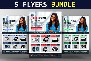 5 Corporate & Product Flyers Bundle