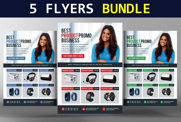 5 Corporate Product Flyers Bundle